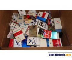 Vendo Coleção de embalagens antigas de cigarros