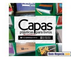 CAPAS PLÁSTICAS REMOVÍVEIS PARA PROTEÇÃO DE LIVROS