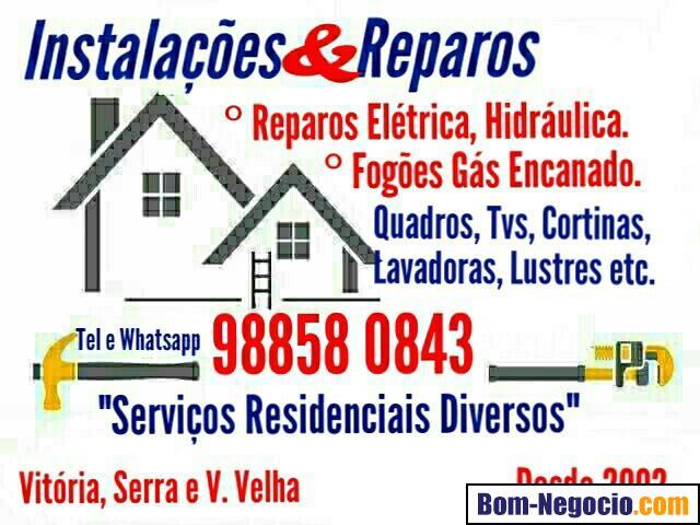 Serviços Residenciais Diversos, Fogões, Eletricista , Encanador
