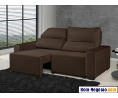 Sofá Retrátil Reclinável 3 Lugares Suede Elegance - American Confort