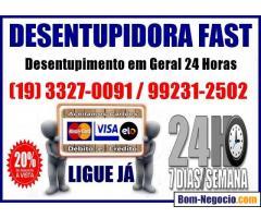 Desentupidora 3327-0091 No Cambuí em Campinas 24 Horas
