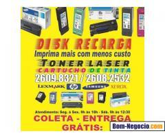 Recarga cartucho tinta, recarga toner laser, conserto projetor, assist técnica data show