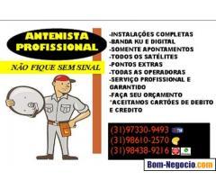 Instalador de antenas em Bh e região