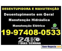 Desentupidora e Manutenção na Vila Nova em Campinas 97408-0533