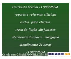 ELETRICISTA 24 HORAS ITANHAEM MONGAGUA PG 13 996726194