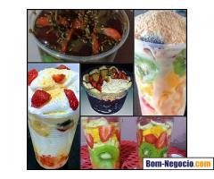 Deliverys de saladas de frutas gourme e açai
