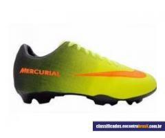 Vendo Chuteira Nike Mercurial Preta e Verde Limão