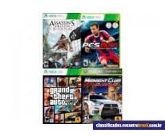 Vendo Xbox 360 Slim 4GB + 2 Controles sem fio + 4 Jogos
