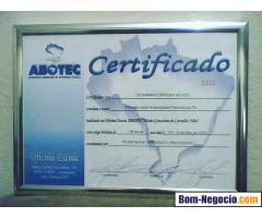 Porta Diploma em Moldura de Alumínio