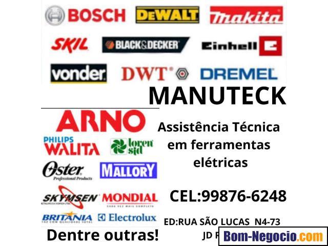 manuteck assistência técnica em ferramentas elétricas