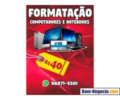 Formatação de computadores e notebooks!