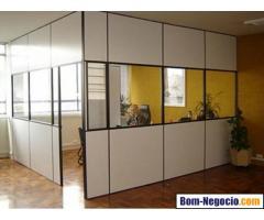 Divisórias de eucatex, escritório, divisão de ambientes
