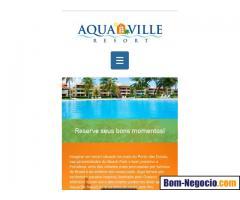 Apartamento no Aquaville Resort visinho ao Beach Park em Fortaleza