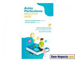 Aulas de inglês (reforço)