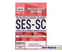 Apostila SES SC 2019 Técnico em Atividades Administrativa PDF