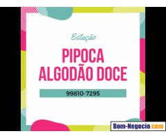 Estação de Algodão Doce, Pipoca, Açaí, Crepe, Tapioca, Churros ou Sorvete para Festas