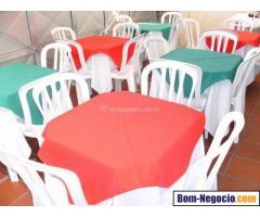 Locação de Mesas e Cadeiras e materiais para festas e eventos