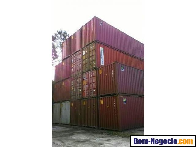 Contêineres marítimos de 20 e 40 pés