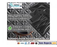 Formas Gesso 3D e Cimento 3D