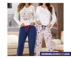 Vendo Pijama meia malha longo feminino