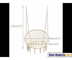 Cadeira de balanço Macramé