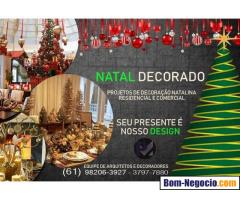 Locação de arvore de natal decorada em Brasilia DF