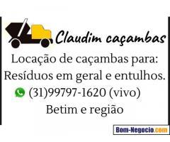 ALUGUEL DE CAÇAMBAS