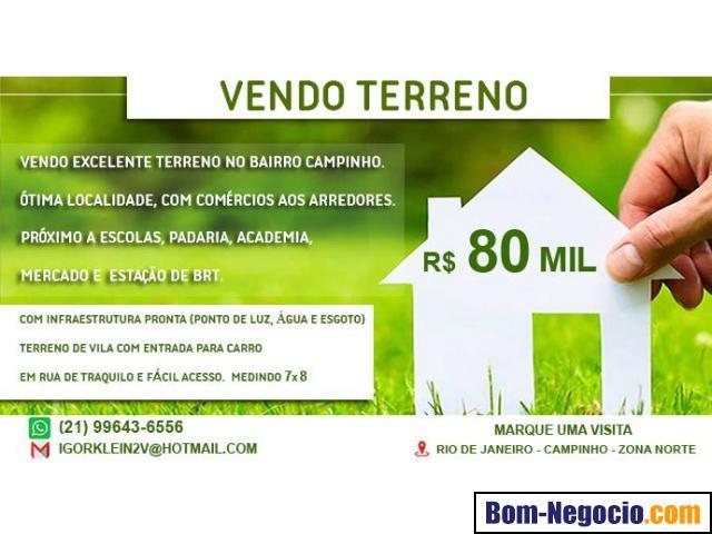 Vendo Terreno Campinho RJ