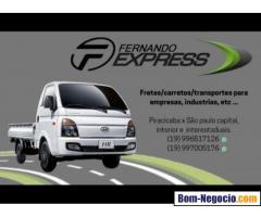 Fretes urgentes e transportes rápidos em Piracicaba