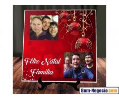 Porta retrato tema natalino e foto