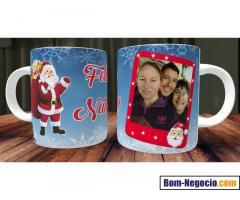 Caneca de Natal com foto