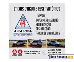 Limpeza para caixas de água em Araçaí
