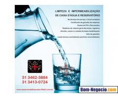 Limpeza e Impermeabilização de caixa d'água em Barreiro