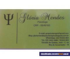 Psicóloga Glória Mendes