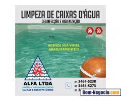 Limpeza para sua caixa de água e reservatório em Belo Horizonte