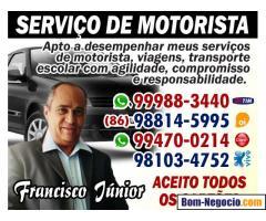 SERVIÇO DE MOTORISTA EM TERESINA-PIAUÍ