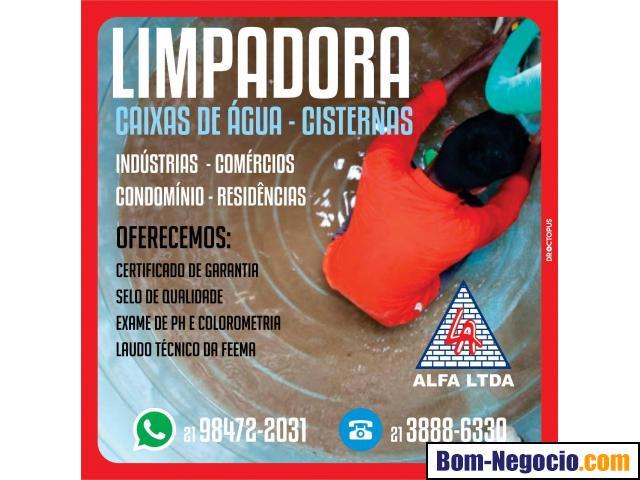 Limpeza caixas de água e cisternas para residências
