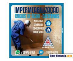 Impermeabilização de caixas de água e cisternas para comércios