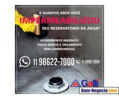 Impermeabilização para reservatórios de água em São Paulo