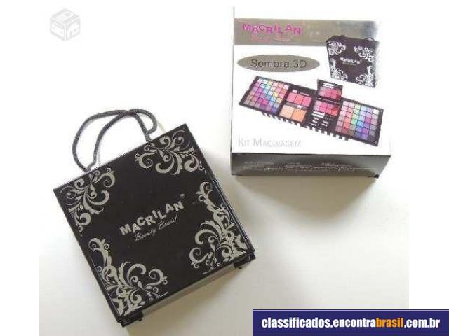 Vendo Kit Maleta Maquiagem Sombras 3d Macrilan Cr9060