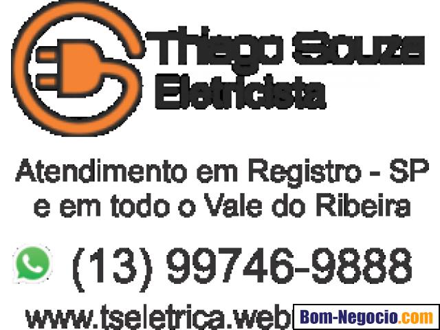 Eletricista em Registro - SP. Thiago Souza Eletricista