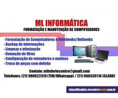 ML Informática - Formatação e Manutenção de Computadores