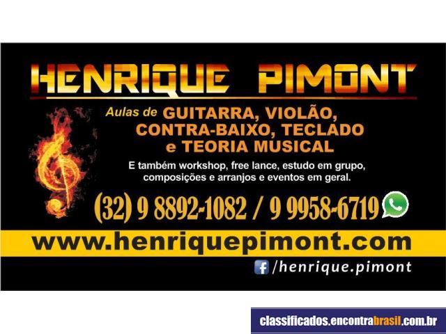 henrique pimont aulas de guitarra, violão, baixo e teclado