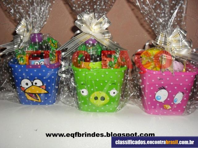 Eqf Brindes Personalizados Centro De Mesa Kit Pipoca Angry Birds