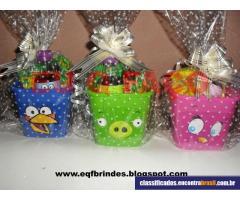 EQF Brindes Personalizados - Centro de Mesa Kit Pipoca Angry Birds