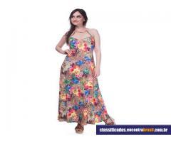 Vendo Vestido Feminino Longo Com Estampa Primavera Verão